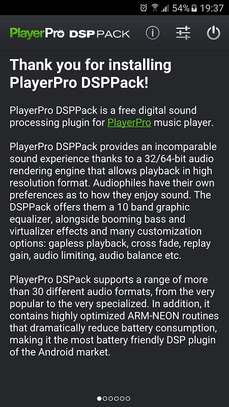 Screenshot PlayerPro DSP pack APK