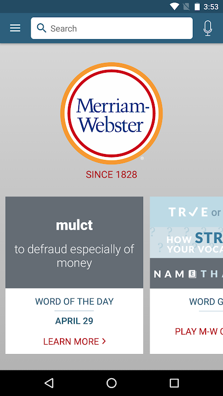 Dictionary - M-W Premium The App Store