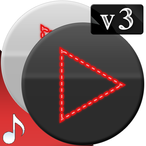 Poweramp v3 skin red dots