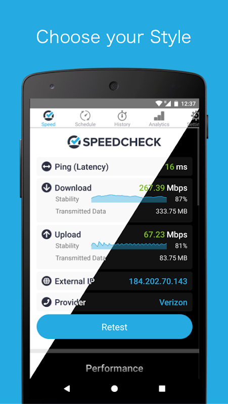 Screenshot SPEEDCHECK - Speed Test APK