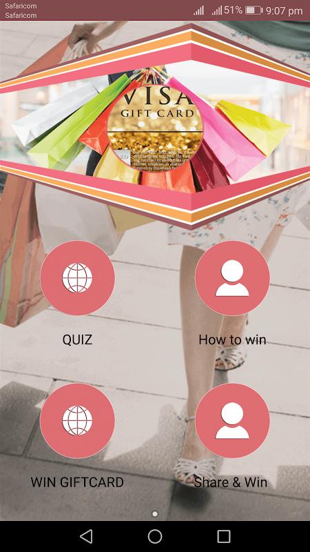 Screenshot get 10 $1000 vi-sa giftcards; do survey, share, win APK