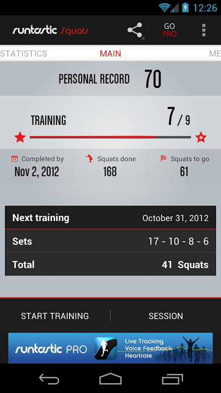 Runtastic Squats Trainer The App Store