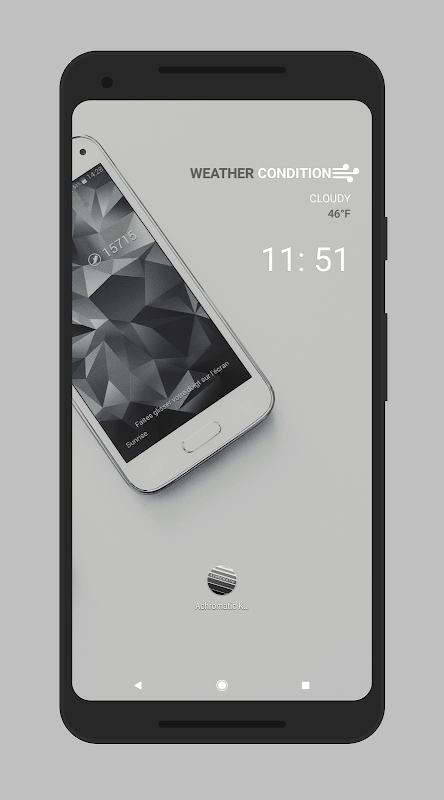 Achromatic KWGT The App Store android Code Lads