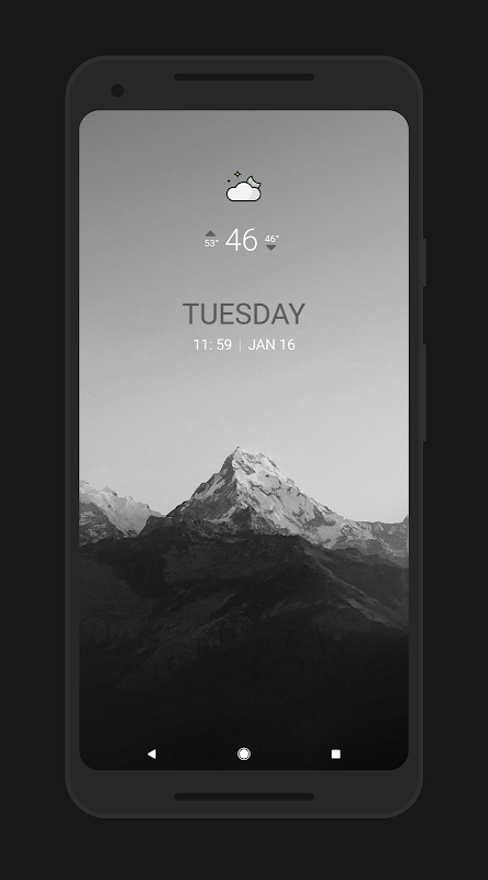 Achromatic KWGT The App Store