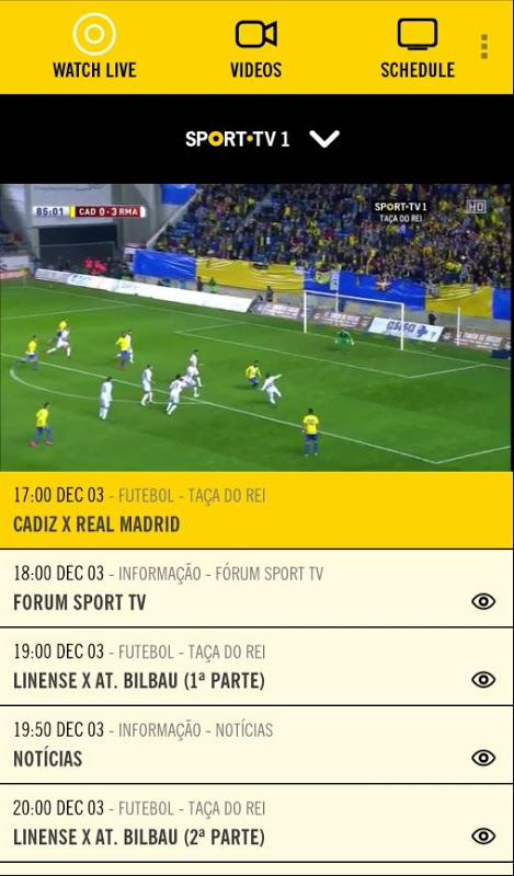 SPORT TV Multiscreen The App Store android Code Lads
