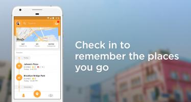 Foursquare Swarm: Check In Screen