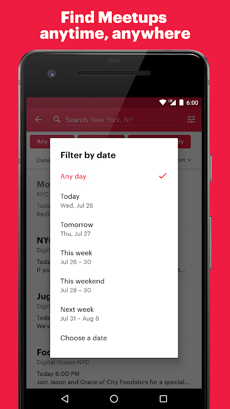 Meetup: Find events near you The App Store android Code Lads