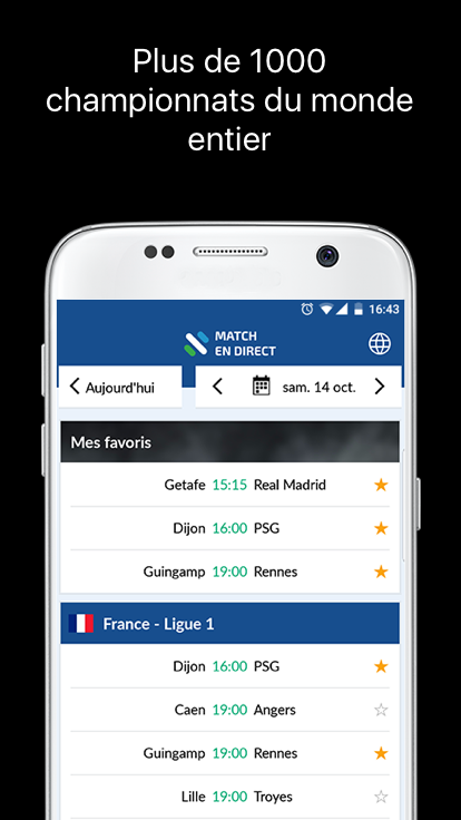 Résultats Foot en Direct The App Store android Code Lads