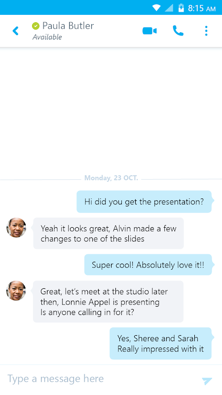 Skype for Business for Android The App Store android Code Lads