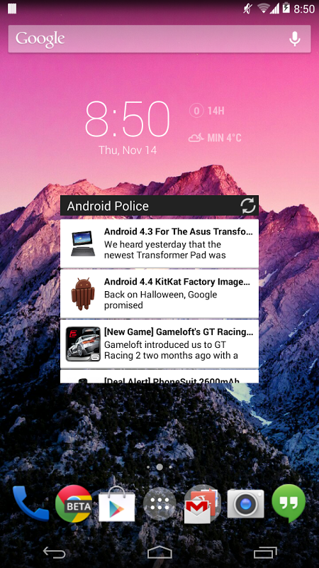 Screenshot Android Police APK