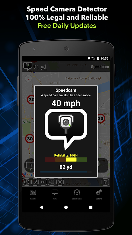 Screenshot Radarbot Pro: Speed Camera Detector & Speedometer APK