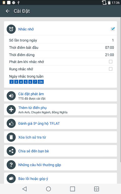 Screenshot English Vietnamese Dictionary TFlat APK