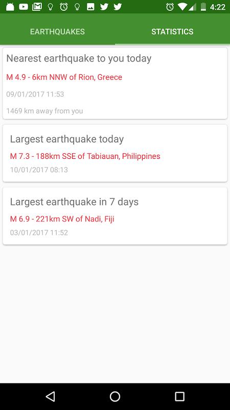 Screenshot Earthquake Map: 3D Earth Globe APK