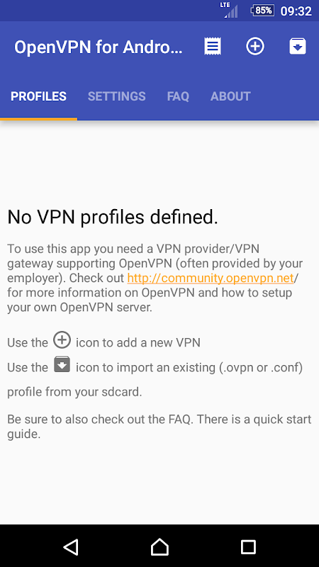 Screenshot OpenVPN for Android APK