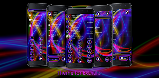 Dialer Neon Abstract Theme for Drupe or ExDialer