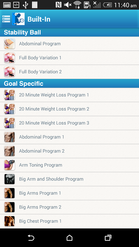 Fitness Buddy : 1700 Exercises The App Store android Code Lads