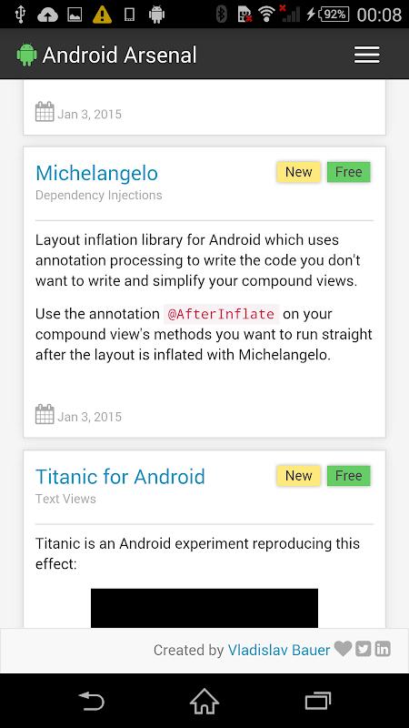 Screenshot Android Arsenal APK