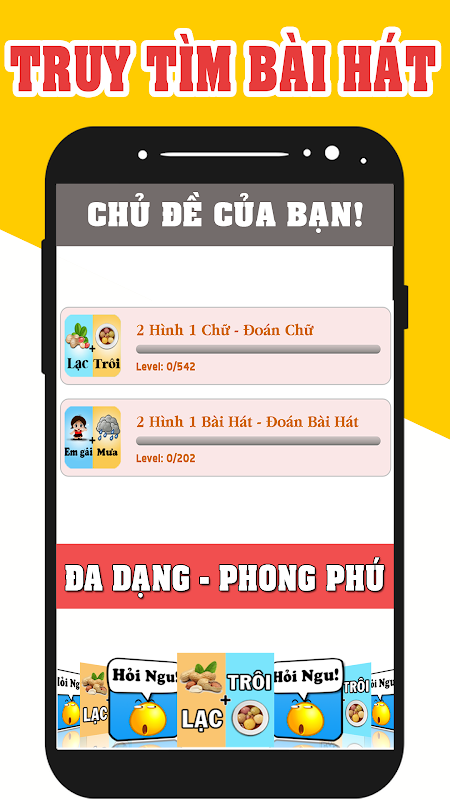 Screenshot 2 hình 1 chữ - Truy Tìm Bài Hát - 2 Hinh 1 Chu APK
