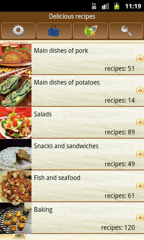 Delicious recipes The App Store android Code Lads