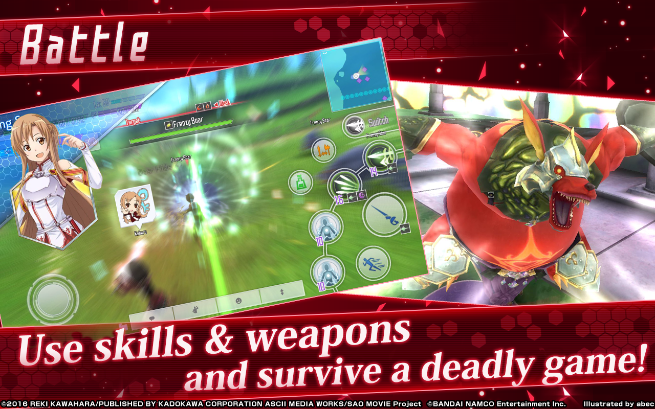 Sword Art Online: Integral Factor The App Store android Code Lads