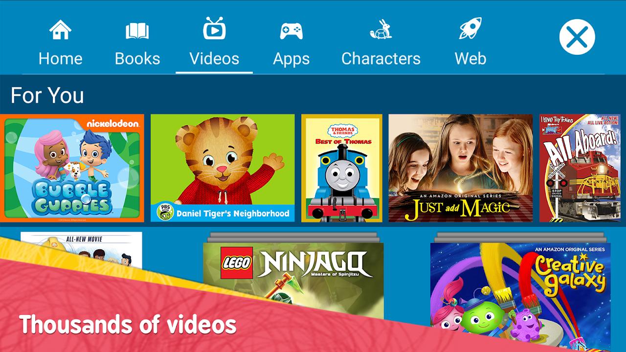 Screenshot Amazon FreeTime – Kids' Videos, Books, & TV shows APK