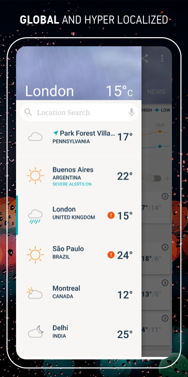 AccuWeather Winter weather alerts & local forecast The App Store android Code Lads