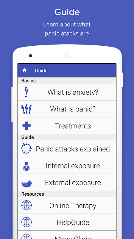 Screenshot PanicShield - Panic Attack Aid APK