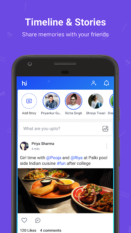 hike messenger: Stickers, Hidden Chat, Timeline The App Store android Code Lads