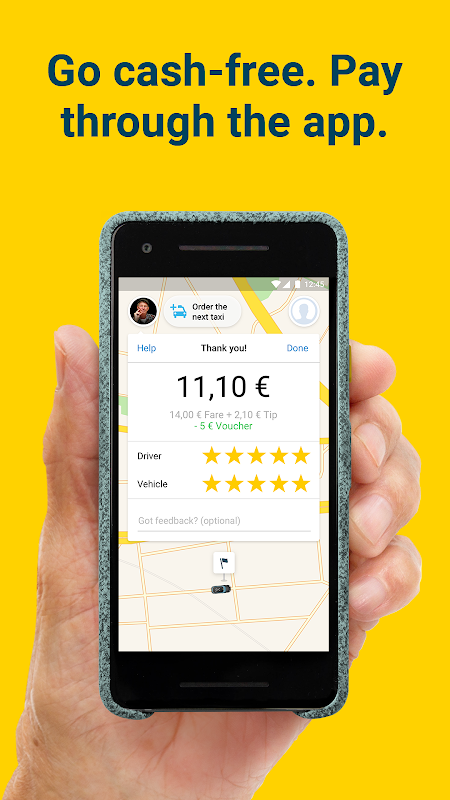 Screenshot mytaxi. Europe's #1 Taxi App APK