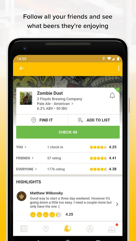 Untappd - Discover Beer The App Store android Code Lads