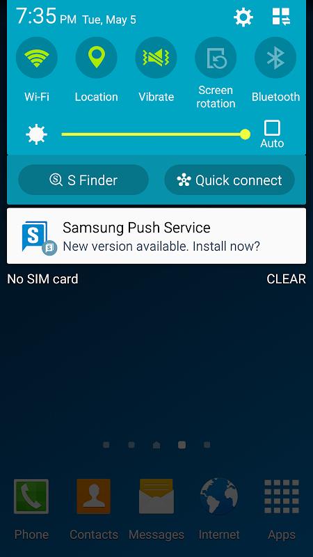 Screenshot Samsung Push Service APK