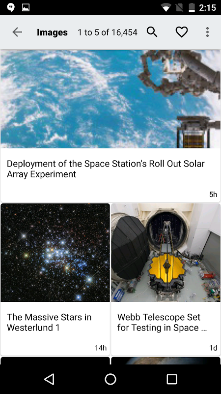 Screenshot NASA App APK