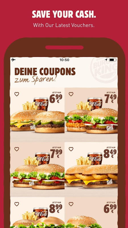 BURGER KING® The App Store android Code Lads