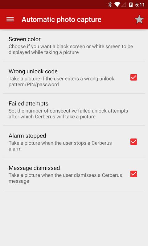 Screenshot Cerberus anti theft APK