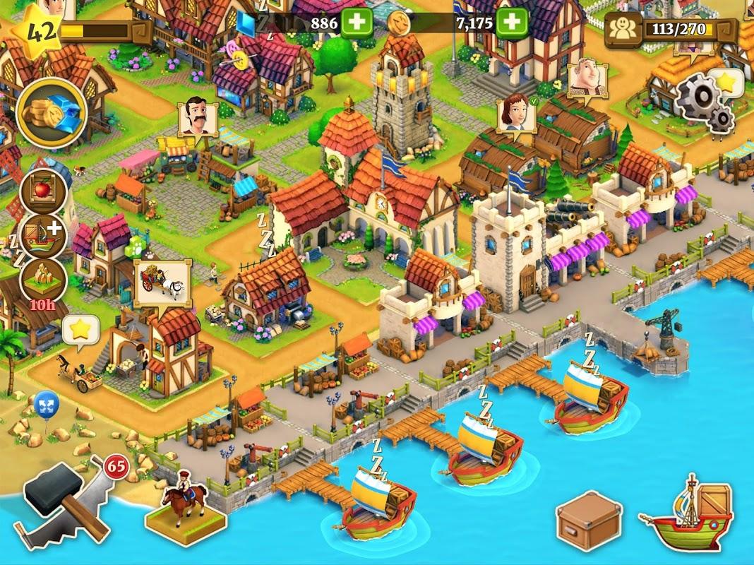 Screenshot Town Village: Farm, Build, Trade, Harvest City APK