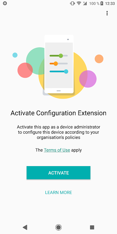 Screenshot Sony   Configuration Extension APK