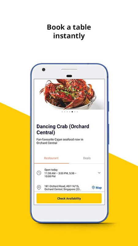 Chope Restaurant Reservations The App Store android Code Lads