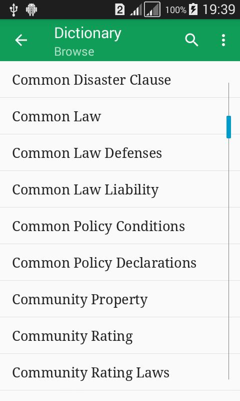 Screenshot Insurance Dictionary Offline APK