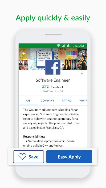 Screenshot Glassdoor Job Search, Salaries & Reviews APK