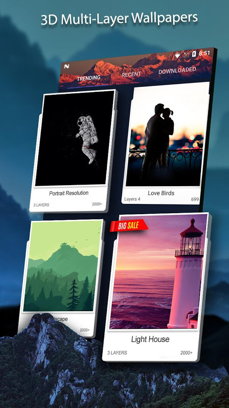 3D Wallpaper Parallax 2018 The App Store android Code Lads