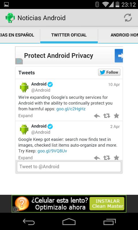 Screenshot Noticias Android APK