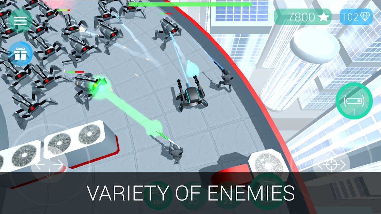 Screenshot CyberSphere: Sci-fi Shooter APK