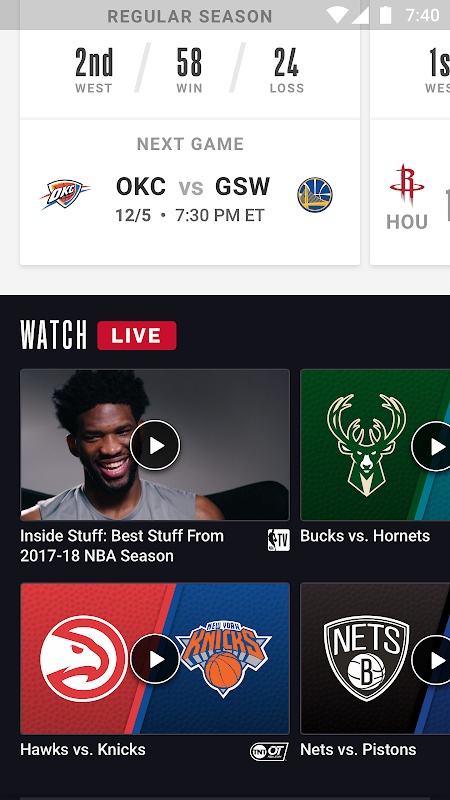 NBA: Official App The App Store