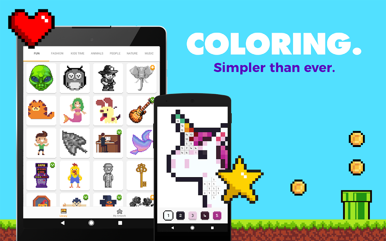 UNICORN: Colour by Numbers Pixel Art Game The App Store android Code Lads