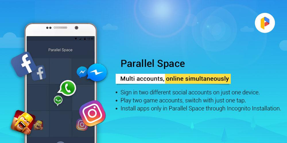 Parallel Space - Multiple accounts & Two face The App Store android Code Lads