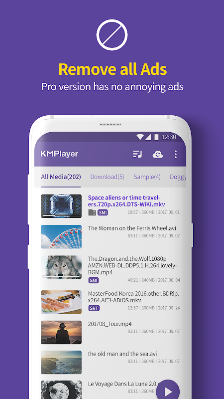 Screenshot Video Player HD All formats & codecs - km player APK