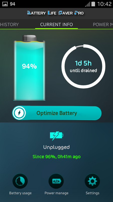 Screenshot Battery Life Saver for Android APK
