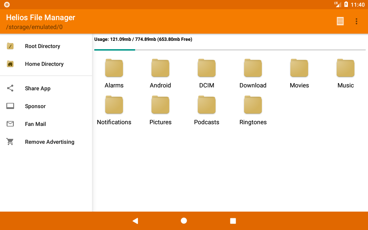 Screenshot Helios File Manager APK