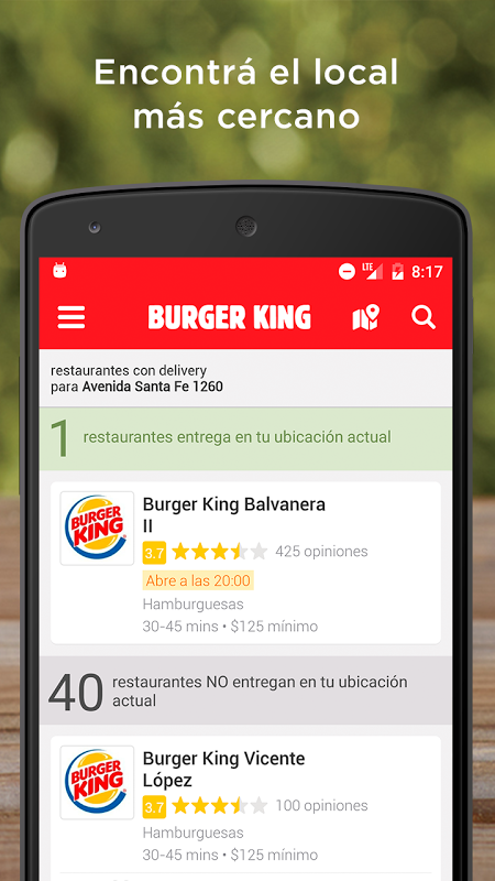 Burger King Argentina The App Store android Code Lads