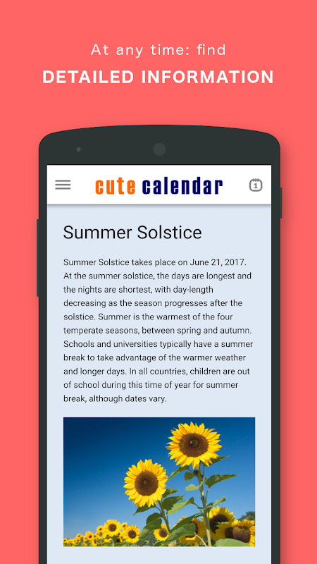 Screenshot Cute Calendar PRO APK